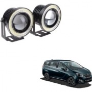 Auto Addict 3.5 High Power Led Projector Fog Light Cob with White Angel Eye Ring 15W Set of 2For Mahindra Marazzo