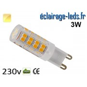 Ampoule LED G9 3w smd 2835 blanc chaud 230v