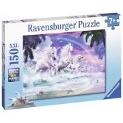 PUZZLE UNICORNI PE PLAJA, 150 PIESE - RAVENSBURGER (RVSPC10057)