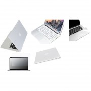 Case Carcasa + Protector De Teclado / Puertos / Pantalla / Trackpad Para Macbook Air 11'' Model (A1370/A1465) -Blanco