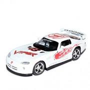 Kinsmart 1:36 Scale Dodge Viper GTS-R Pull Back Car Toy (White)