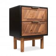 vidaXL Нощно шкафче, акациево дърво масив, 40x30x53 см
