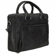 Strellson Richmond Aktentasche Leder 40 cm Laptopfach black