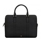 Maxwell-Scott Damen Leder Laptop Businesstasche in Schwarz - Sorrento - Aktentasche, Dokumententasche, Dokumentenmappe, Laptoptasche