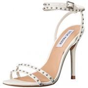 Steve Madden Women's Wish Dress Sandal, White Leather, 6 M US