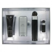 Perry Ellis 360 Black Eau De Toilette Spray + After Shave Balm + Deodorant Stick + Mini EDT Spray Gift Set 456636