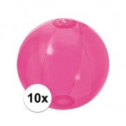 Oranje artikelen 10x Opblaasbare strandbal fel roze 30 cm