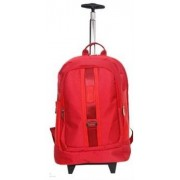 Macaroni Caretto 17 inch Dotted Nylon Trolley Backpack-Red