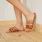 Sandales plates en simili