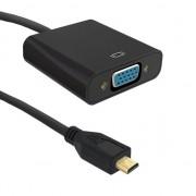 Accesoriu IT qoltec Cablu AV si adaptor Qoltec Micro HDMI - D-Sub 0.2m negru (50402)