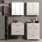 Badezimmer Kombination in Made in Germany Weiß (4-teilig)