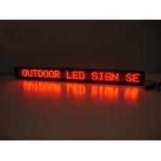 Panou Afisaj Luminos cu LEDuri de Lumina Rosie 167x40cm