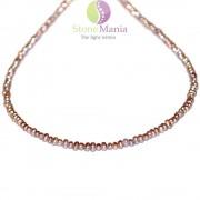 Colier perle de cultura roz neuniforme 3mm
