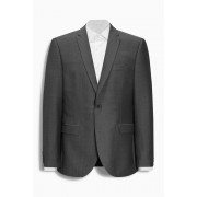 Mens Next Wool Blend Suit: Jacket - Regular Fit - Charcoal Grey