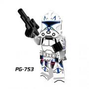 Generic 50pcs Star Wars Darth Vader Figure Windu Unduli Clone Trooper Red Snowtrooper Captain Panaka Building Blocks Bricks Friends Toys PG753