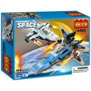 COGO Spaceship Model Toy Building Block Toys for Boys Construction toys Spaceships Building Play Set 364 Pieces 4402