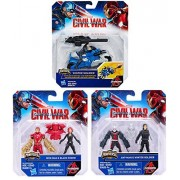 Marvel Captain America: Civil War Miniverse Figures - Iron Man & Black Widow / Ant-Man and Winter Soldier / Winter Soldier Action Figure with Blast-Action Cycle