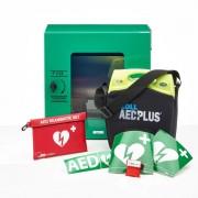 ZOLL AED Plus + buitenkast-Groen-Volautomaat