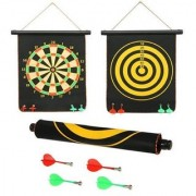 New Pinch Fordable Double Sided Magnet Dart Board Game with Non Pointed Darts Size- 12 Inches