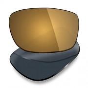 Mryok Lentes de repuesto para Oakley Fives Squared, Polarized Bronze Gold, Talla unica
