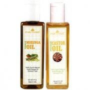Park Daniel Premium Moringa oil and Castor oil combo of 2 bottles of 100 ml (200ml)