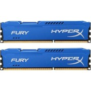 Memorija Kingston 8 GB Kit (2x4 GB) DDR3 1866 MHz HyperX Fury Blue, HX318C10FK2/8