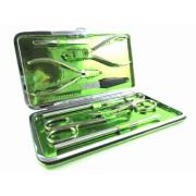 FLASHY METALLIC GREEN - oryginalny, 8-częściowy zestaw do manicure i pedicure, SOLINGEN-Hardenburg
