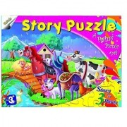 Ratna's Story Jigsaw Puzzle - A Rainy Picnic Day - Educational Toy Puzzle Creative Gift