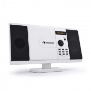 MCD-82 Lettore DVD Impianto Stereo USB SD bianco