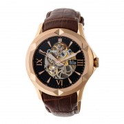Reign Dantes Automatic Skeleton Dial Leather-Band Watch - Rose Gold/Brown REIRN4706