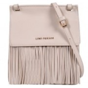Lino Perros Women Casual Beige Leatherette Sling Bag