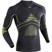 X-Bionic Men Energy Accumulator Evo Shirt Long Sleeves Round Neck charcoal/yellow