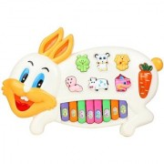 Shribossji Musical Rabbit Educational Piano Keyboard Toy - Multicolor