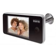 Digitální dveřní kukátko Eura-Tech ERIS VDP-01C1 3.2'' LCD, širokoúhlý stříbrný hledáček