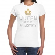 Toppers official merchandise Wit Toppers Queen of the afterparty glitter t-shirt dames