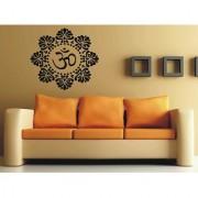 Yoga Hindu Om Symbol In FLower Wall Vinyl Sticker Sticker Mural Design 104