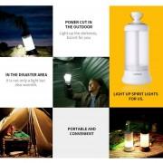 Oanda Portátil LED Linterna Camping, Potente Imán Diseño RechargableI Recorrido Vehículo Luces Ideal Para La Pesca, Senderismo, Salvaje Comida, Emergencias Y Aventuras Al Aire Libre (4 Modo De Iluminación)