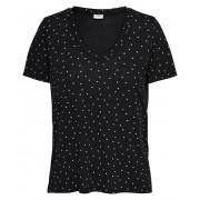 Jacqueline de Yong T-shirt pentru femei Nori S / S Aop V-Neck Top Jrs Noos Black S