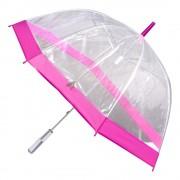 Umbrela transparenta tip clopot-roz