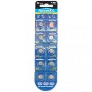 Raymax Batteries Batterie a bottone Alcalina LR57 LR927 395 AG7 (set 10 pz)