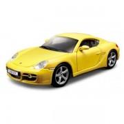 Macheta Masina Porsche Cayman S BBURAGO Scara 1:32 Yellow