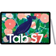 """Samsung Galaxy Tab S7 Tablet (11"""", 128 GB, Android, 4G (LTE), Mystic Silver"""