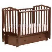 Кубаньлесстрой Детская кроватка Кубаньлесстрой АБ 19.3 Жасмин маятник продольный с ящиком