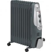 Calorifer electric AEG RA 5522, 2200W, Gri/Negru, Termostat, 11 elementi