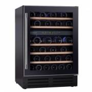 Vitrina de vinuri incorporabila Hoover HWCB 60 145 l Capacitate 46 sticle Clasa C 2 zone de racire Iluminare LED 60 cm Negru