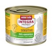 Animonda Cat Integra Protect Sensitive konzerv, pulyka és burgonya 200 g