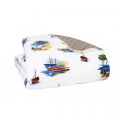 Olivier Desforges - Housse de couette Percale 80 fils Multicolore 200 x 200 cm - TRANQUILLE