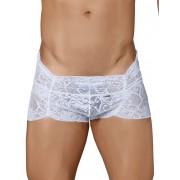 Candyman Lace Curvy Boxer Brief Underwear White 99320