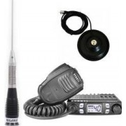 Pachet statie radio CB Avanti Micro PRO-version + antena radio CB Megawatt ML100 cu baza magnetica 145 PL