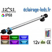 Tube LED RGB 3W Submersible 28cm Aquarium IP68 12V ref tla-07